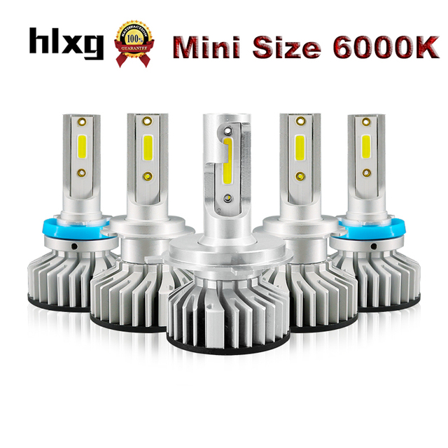 HLXG 2PCS H1 H3 H11 H4 H7 LED Bulbs 4300K 6000K 10000LM Car Headlight Kit 50W H8 H9 9005 9006 Auto Headlamp Lights