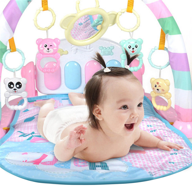 Baby Activity Gym Children's Play Mat Developing Carpet Soft Rattles Musical Toys Activity Rug For Babies Games  0-12 Months