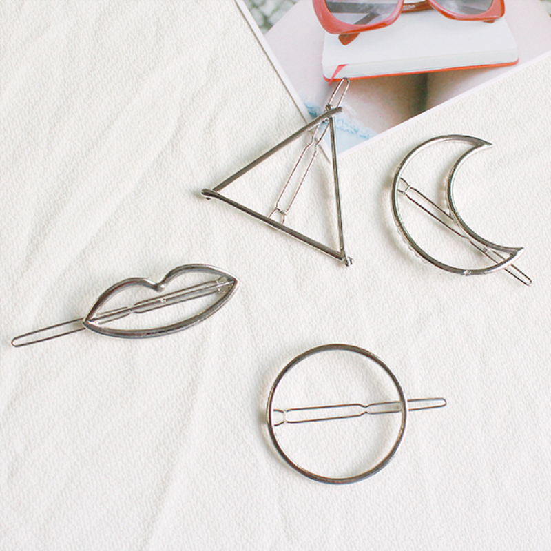 Girl's Accessories Girl's Hair Accessories Wpczqvza Hot Selling Women Simple Hair Clips Fashion Gold/sliver Color Moon Hair Pins High Quality Girls Hair Accessories