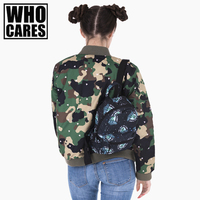 cool alien mini backpack women 3D printing Children School Bag mochilas who cares 2017 fashion new backpacks sac a dos bags