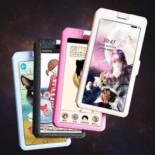QIJUN Flip Transparent Window Case For Samsung Galaxy A3 A5 A7 2015 A300F A500F A700F Smart Touch View Stand Phone Cover стоимость