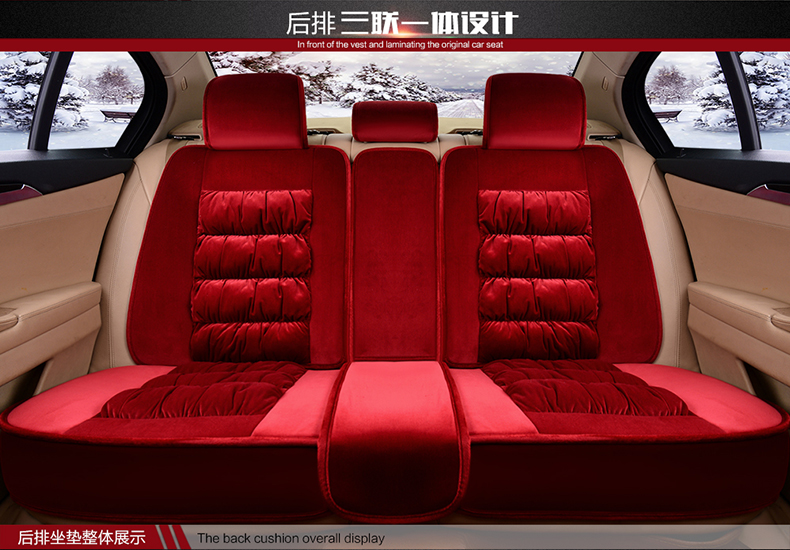 3D Fully Enclosed Short Plush <font><b>Seat</b></font> <font><b>Cover</b></font> For <font><b>Peugeot</b></font> 206 207 2008 <font><b>301</b></font> 307 308sw 3008 408 4008 508 RCZ Winter Cushion image