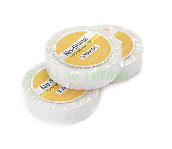 5rolls 1/2*3 yards WALKER no shine adhesive tape for hair extension/lace wig/ toupee, roll of double-sided tape micropore surgical tape tan 1 x 10 yards box of 12