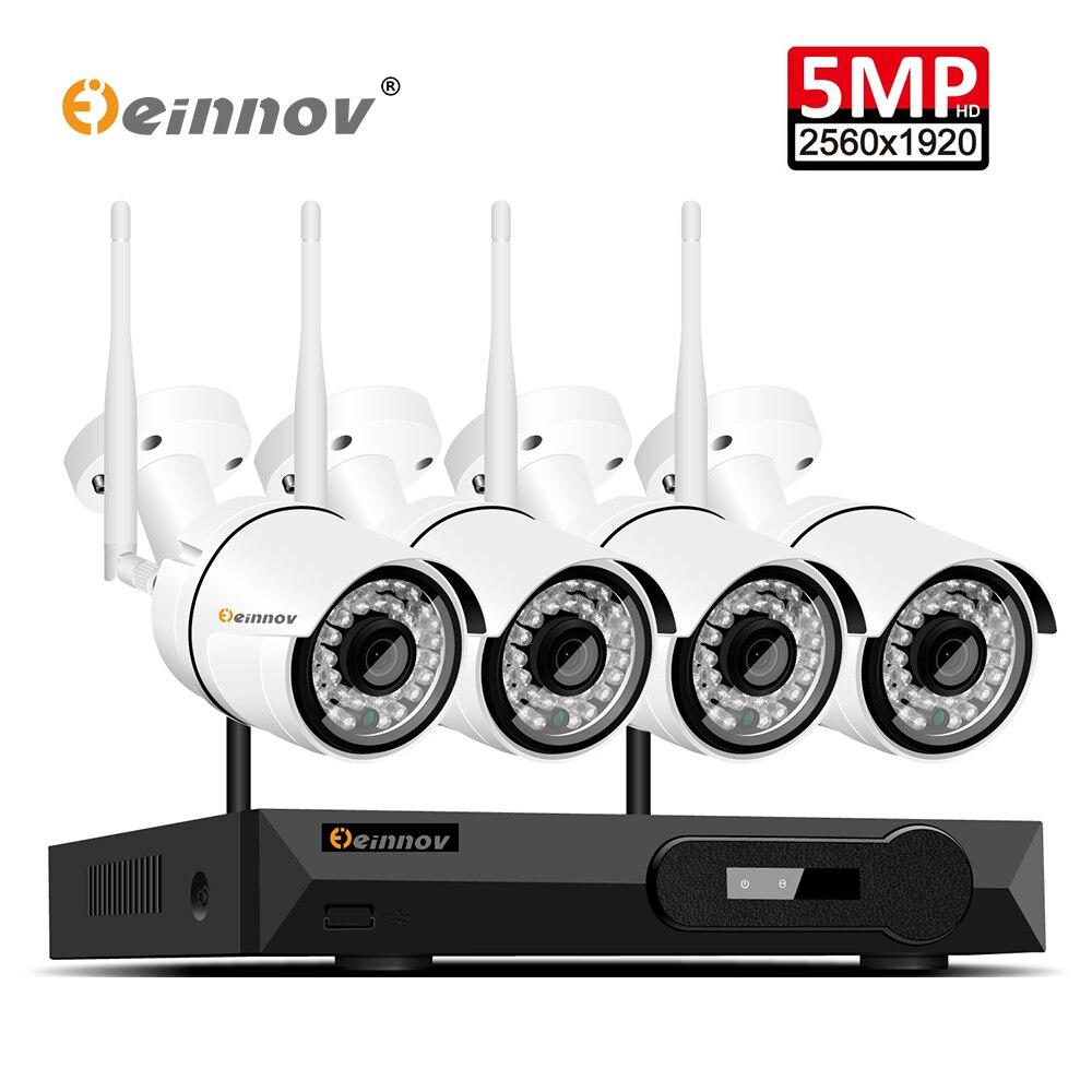 Einnov 5MP H.265 Full HD di Sicurezza Domestica Wifi Sistema di Telecamere tvcc Wireless NVR Video di Sorveglianza Kit Sistema Della Macchina Fotografica Sistema WI-FI