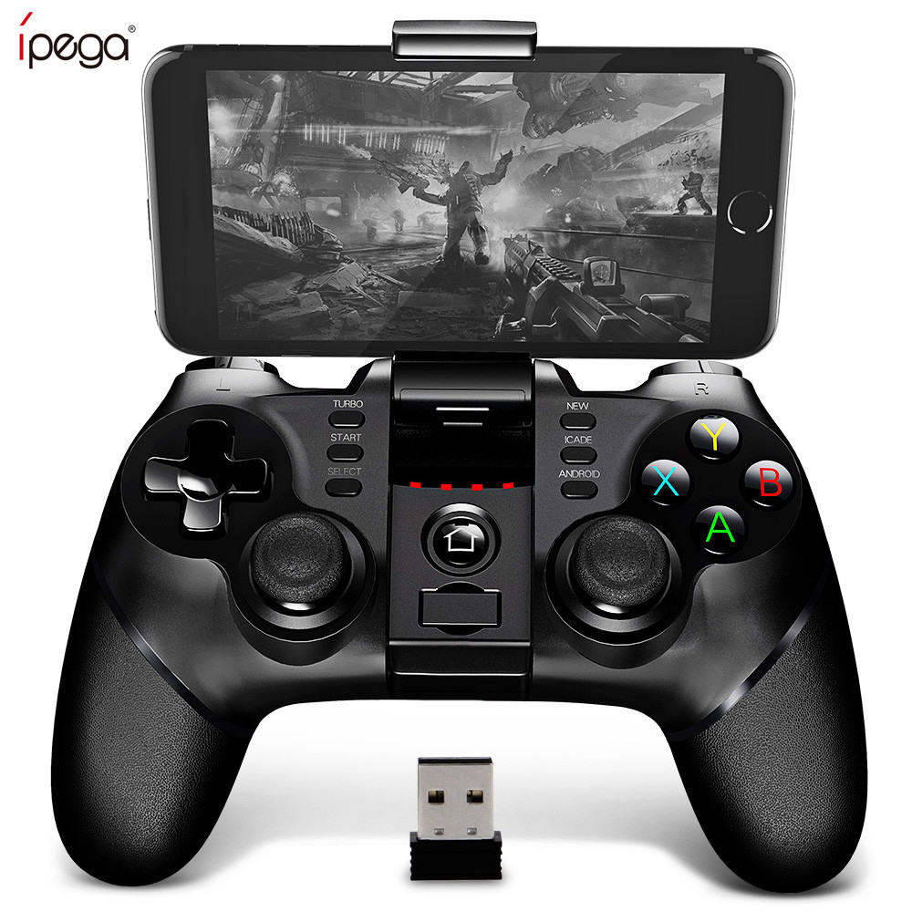 Ipega 9076 Wireless Bluetooth Gamepad Controller Android Joysticks With Extandable Phone Holder And 2.4g Wireless Receiver