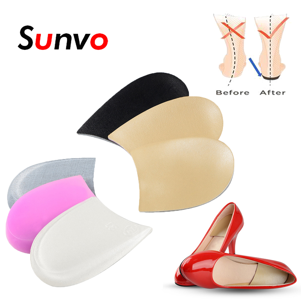 Sunvo Silicone Gel Orthotic Heel Pads for Correct O/X Leg Valgus Varus Heels Cup Orthopedic Shoes Pad Foot Pain Care Inserts soumit gel unisex o x leg valgus varus corrector orthotic insoles foot pads heel correction pads flatfoot support insert insoles