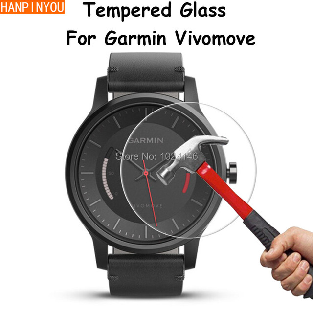 For Garmin Vivomove Sports SmartWatch Clear Tempered Glass Screen Protector Ultra Thin Explosion