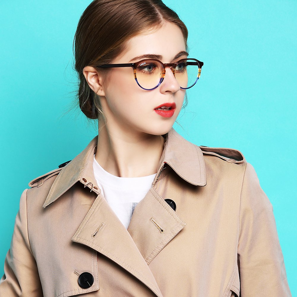 2019 New Design Handmade Acetate Glasses Fashion Colors Eyewear Frames Spectacle Prescription Anti Blue Light Blocking Glasses