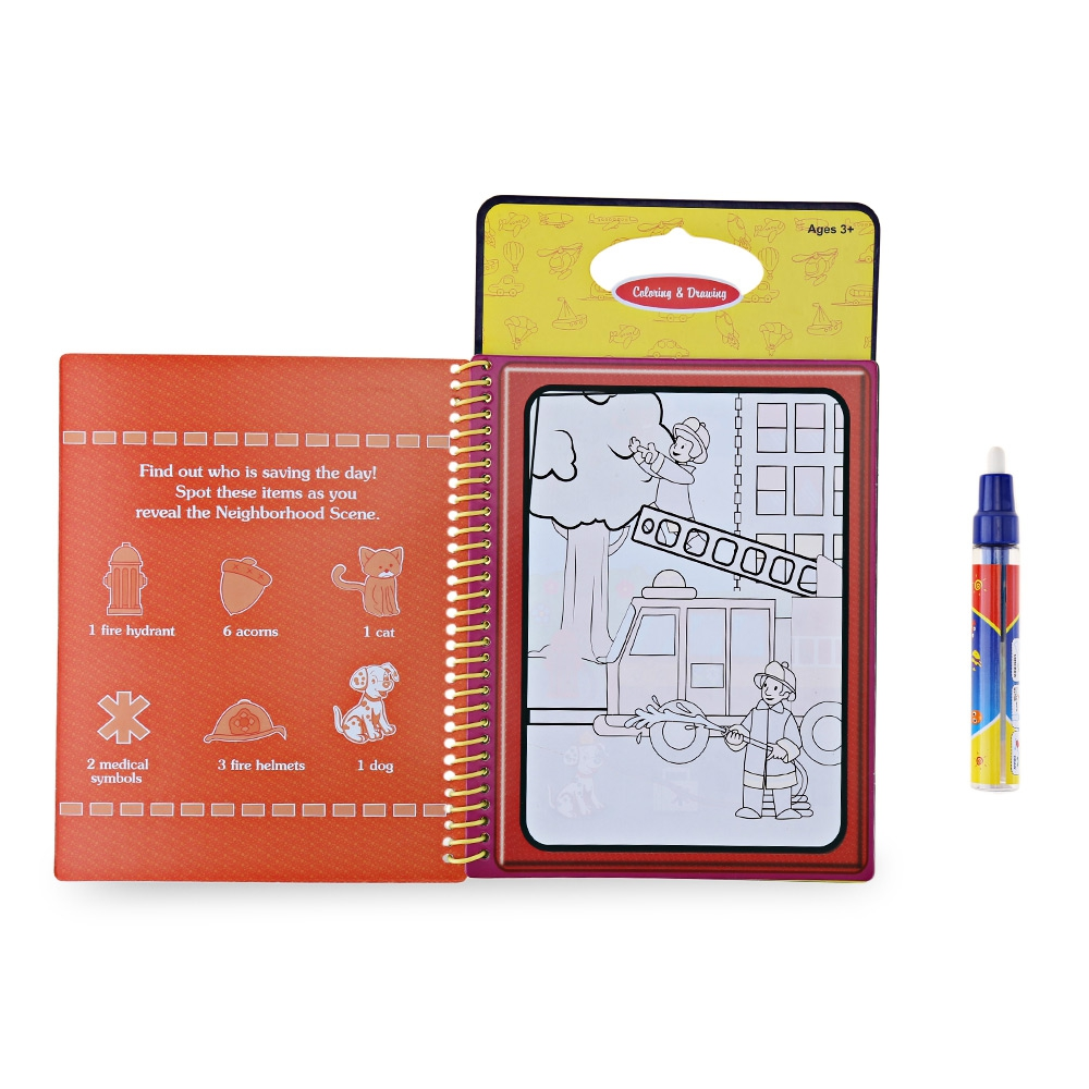 Watercolor books for kids - New Product Selling Magic Transportation Water Drawing Book Toy Painting Board For Kids With Watercolor Pen