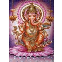 Full diamond embroidery Indian Ganesha image 5D DIY mosaic pattern home decor  painting cross stitch crafts gift