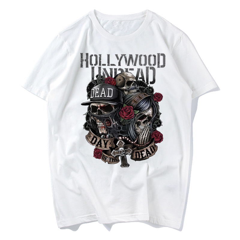 2018 Hollywood Undead Male Men T-shirt Band Music Rock N Roll New Men T Shirt Print Pattern O-neck Tee Quality Casual Men
