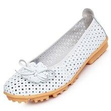 AUAU Высокое Качество Женщин из натуральной Кожи Квартиры Обувь Вырезами Балета Женщин Квартиры Комфорт Обувь Женщина Мокасины