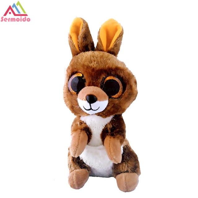 sermoido TY 6   Beanie Boos KIPPER the Brown Kangaroo Plush Collectible  Soft Big Eyes Plush Animal Toys For Kids DBP97 37a1b087ba87