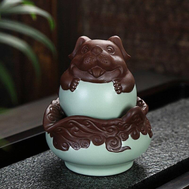 Chinese Zodiac Coffee Tea Sets,Portable Travel Tea Set,Ceramic TeaPot Cup Of Tea Kettle Porcelain,Creative Kung Fu TeaSets