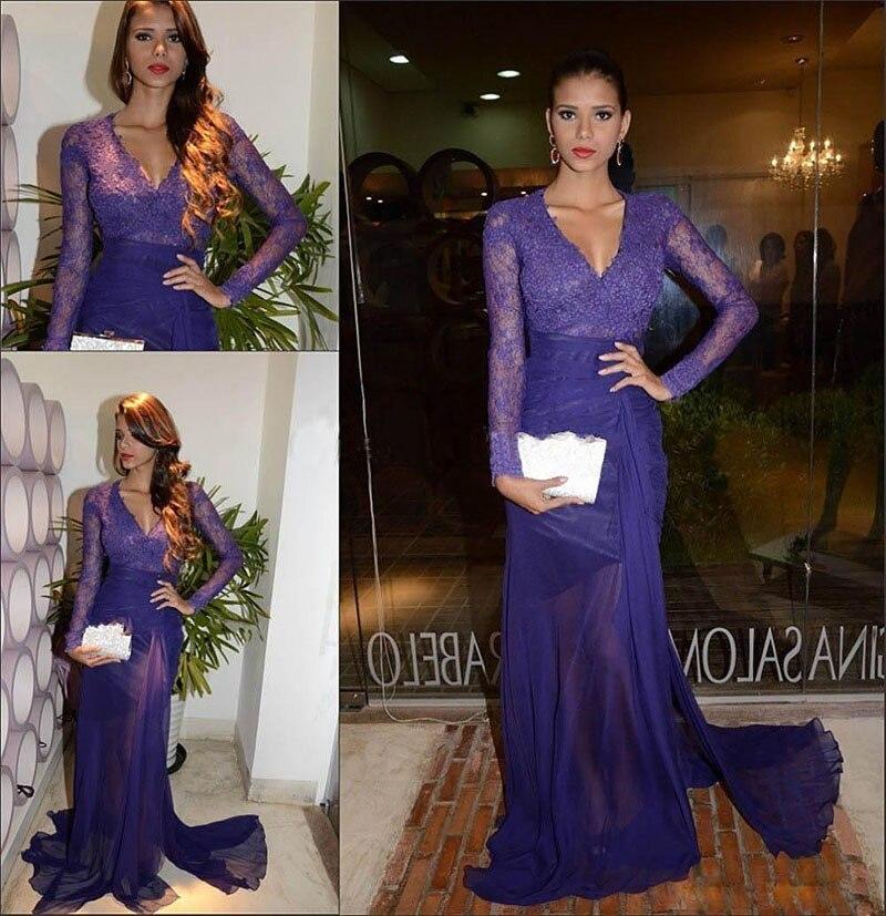 Purple Long Sleeve Dresses Fashion Dresses