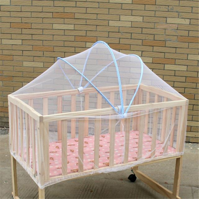 Previous; Next & Summer White Infant Baby Arched Mosquito Net Toddlers Crib Cot ...