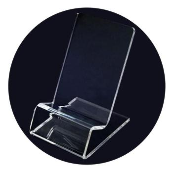 1 PCS Transparent Office Desk Accessories Card Clip Business Card Holders Desk Acrylic Plastic Id Holder Card Display Stand 1