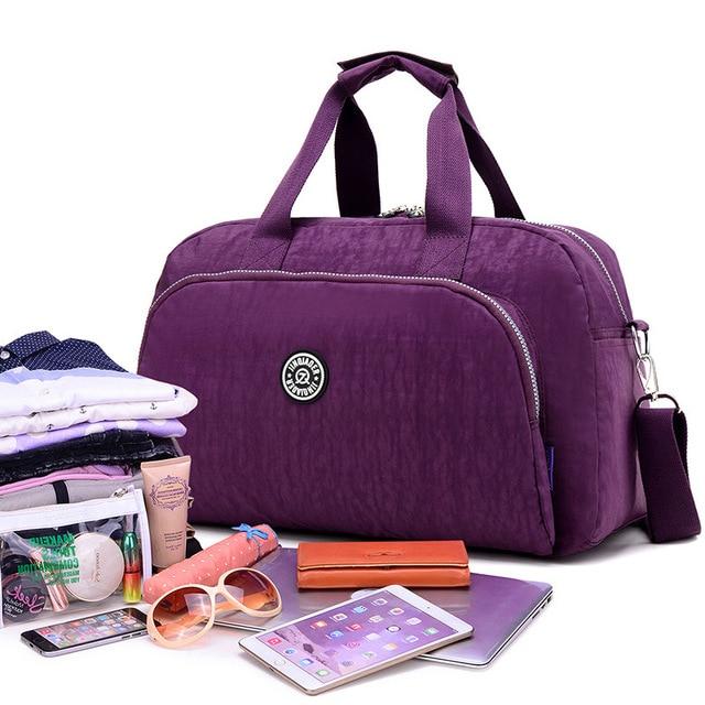 2017 Nylon Autumn Travel Bag Weekend Bag Large Capacity Overnight Bag Men Waterproof Bag Women Duffel Travel Tote