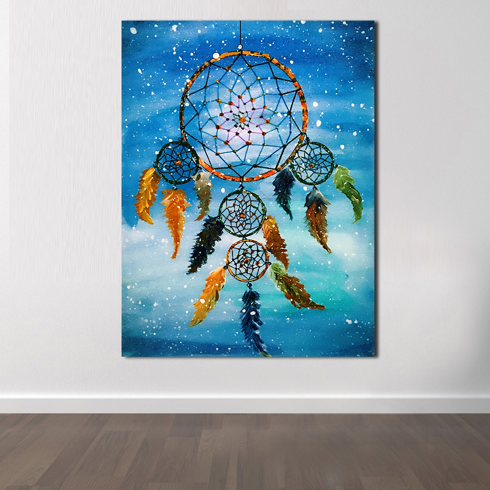 Jqhyart Oil Painting Classical Dream Catcher Posters And Prints Abstract Paintings No Frame Home Decor In Painting Calligraphy From Home Garden On