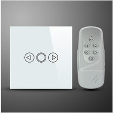 EU Standard Wireless  Remote Control Dimmer Light Switch With 1 Gang Touch Panel