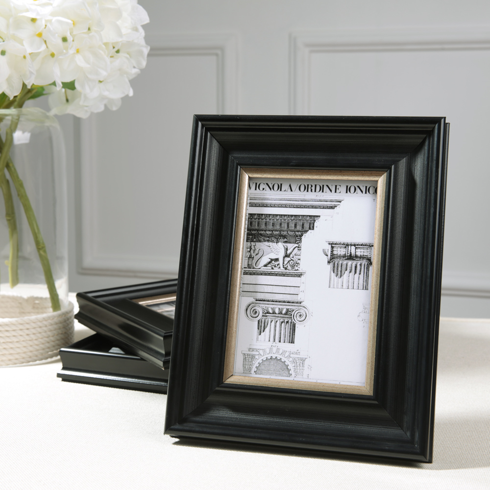 cheap new black color modern wooden picture frame fashion home wall table decoration photo frames