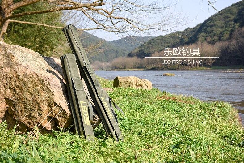 pesca saco de armazenamento longo macio ombro para ferramenta de pesca