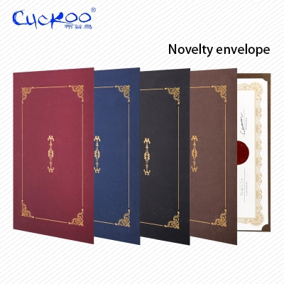 Honor Certificate Classical Retro Nevelty Gilding Envelope A4 Certificate Cover Letter Paper Contract Document Folder 6 Pcs/set