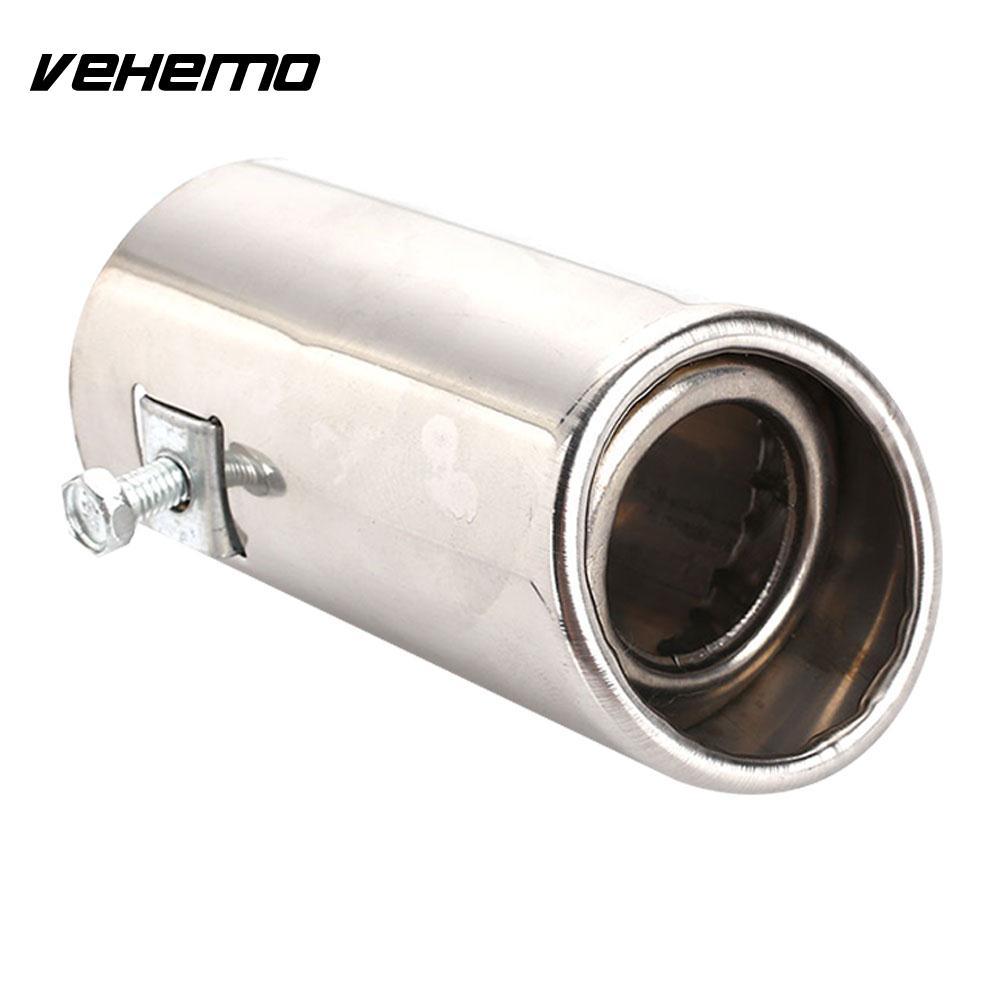 Vehemo Durchmesser 51-51mm Schalldämpfer Spitze Rohr Auto Schwanz Rohr Hinten Auspuff Schwanz Edelstahl Outlet