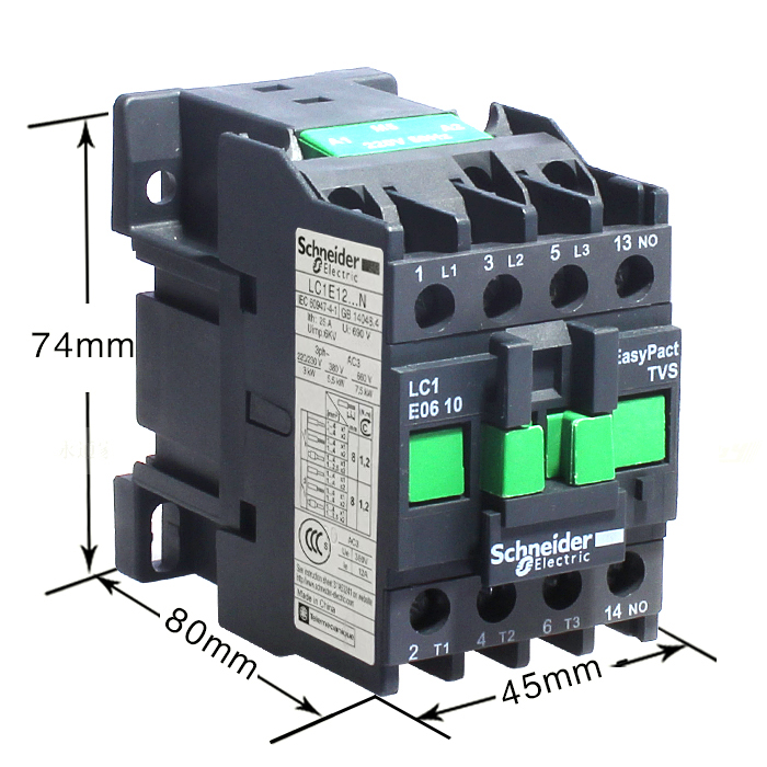 Details about  /1PCS NEW Schneider AC contactor LC1-E1210M5N 12A 220V