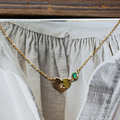 women pendant&necklace gift customized engraved letters heart shape transparent emerald crystal 14k gold filled necklace female