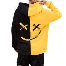 Толстовка с принтом улыбающегося лица, Мужская толстовка, пуловер, топы с капюшоном, толстовка Moleton, уличная одежда, Sudadera Hombre размера плюс S-5XL