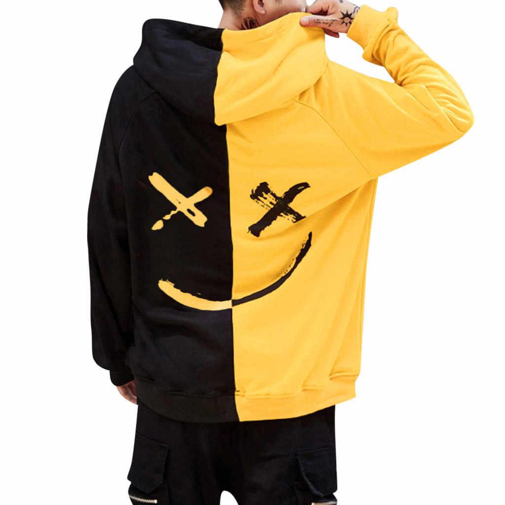 ยิ้มFaceพิมพ์Hoodie Sweatshirtผู้หญิงเสื้อHooded Sweatshirt Moleton Sudadera Hombre PlusขนาดS-5XL