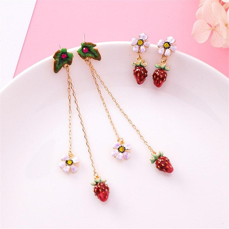 Warmhome Trendy Jewelry Enamel Glaze Cute White Flowers Stra