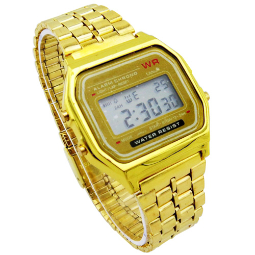 Wholesale 5 pcs F 91W LED Watch for Children/Gold Silver ...