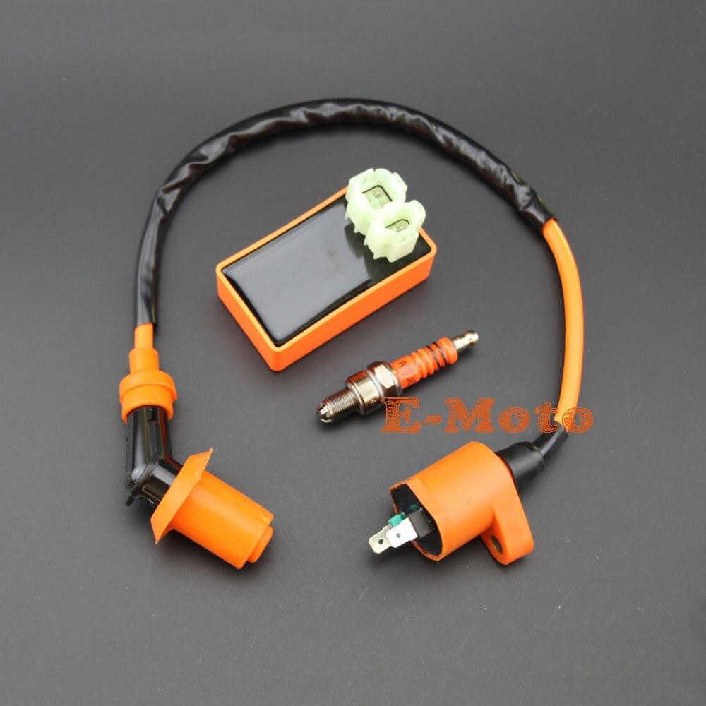 Ignition Coil Cdi Box Regulator Rectifier For 50cc 70cc 90cc 110cc Gy6 200cc Chinese Atv Wiring Performance Racing 6 Pins Ac A7tjc Spark Plug 50