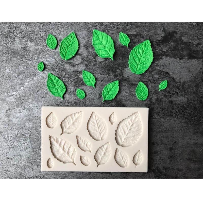 Sugarcraft 1 piece Leaf Silicone mold Fondant Mold Cake Decorating Tools Chocolate Mold Baking Mold