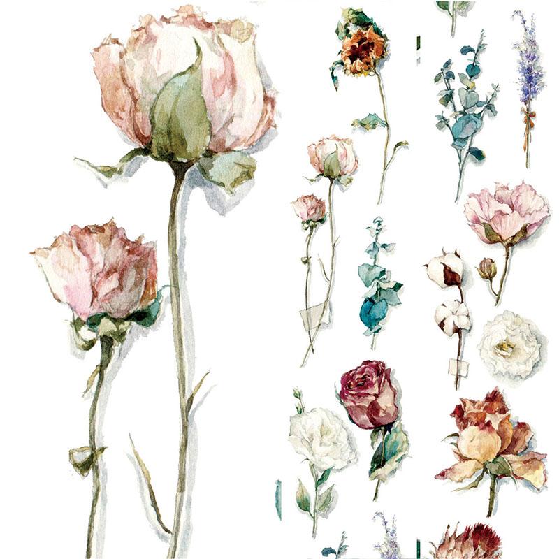 35mm Wide Vintage Flower Fragrance Alone Decoration Washi Tape DIY Planner Diary Scrapbooking Masking Tape Escolar
