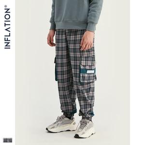 Image 3 - INFLATION Streetwear Men Plaid Jogger Pants  Joggers Casual Pants 2020 Man Hip Hop Pants Plus Size Jogger Casual Pants 93367W