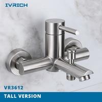IVRICH Bathroom Handheld Shower bath faucet SUS304 Stainless bathing water mixer bathtub faucet Hot Cold bath tap VR3612