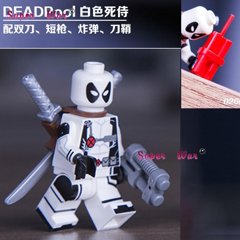 20pcs star wars superhero marvel Decool SDCC Deadpool building blocks action figure bricks model educational diy baby toys