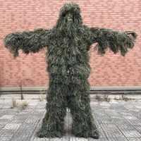 5 sztuk/zestaw kamuflaż strój ghillie Yowie Sniper odzież wojskowa Camo garnitur do polowania Paintball strój ghillie mężczyźni...