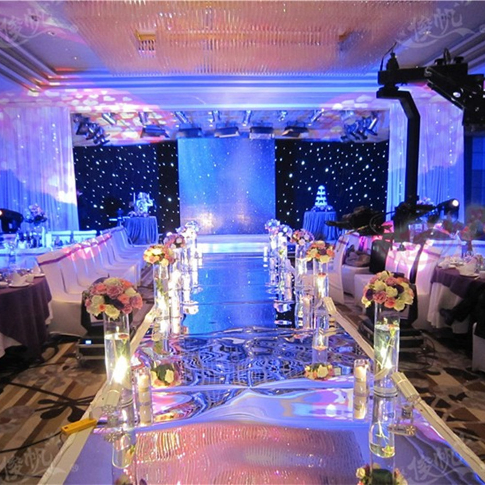 10 meter/lot 150cm Width Silver Wedding Carpet,T Stage Carpet Runner Wedding Party Stage Marriage Decoration 0.13mm thickness,