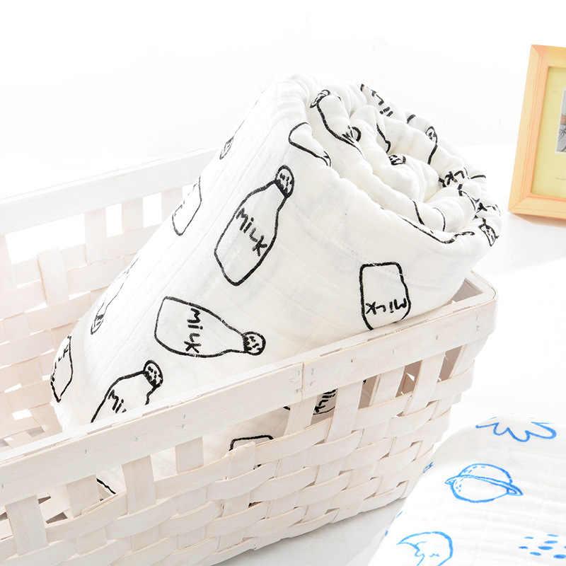 Suave 100% algodón Clase A 6 capas Toalla de gasa de muselina Toalla de baño infantil manta de bebé Toalla de baño de bebé envío Gratis
