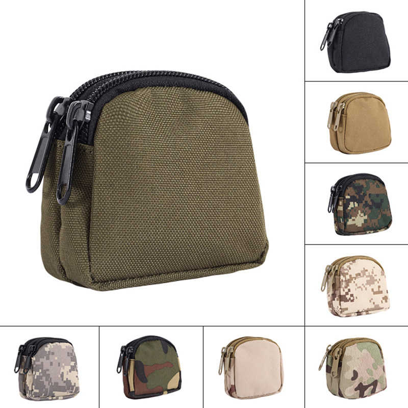 Military Key Coin Bag Utility Pouch Tactical Bag Outdoor Hunting Multifunctional Waterproof Bag Organizer Sports Accessories