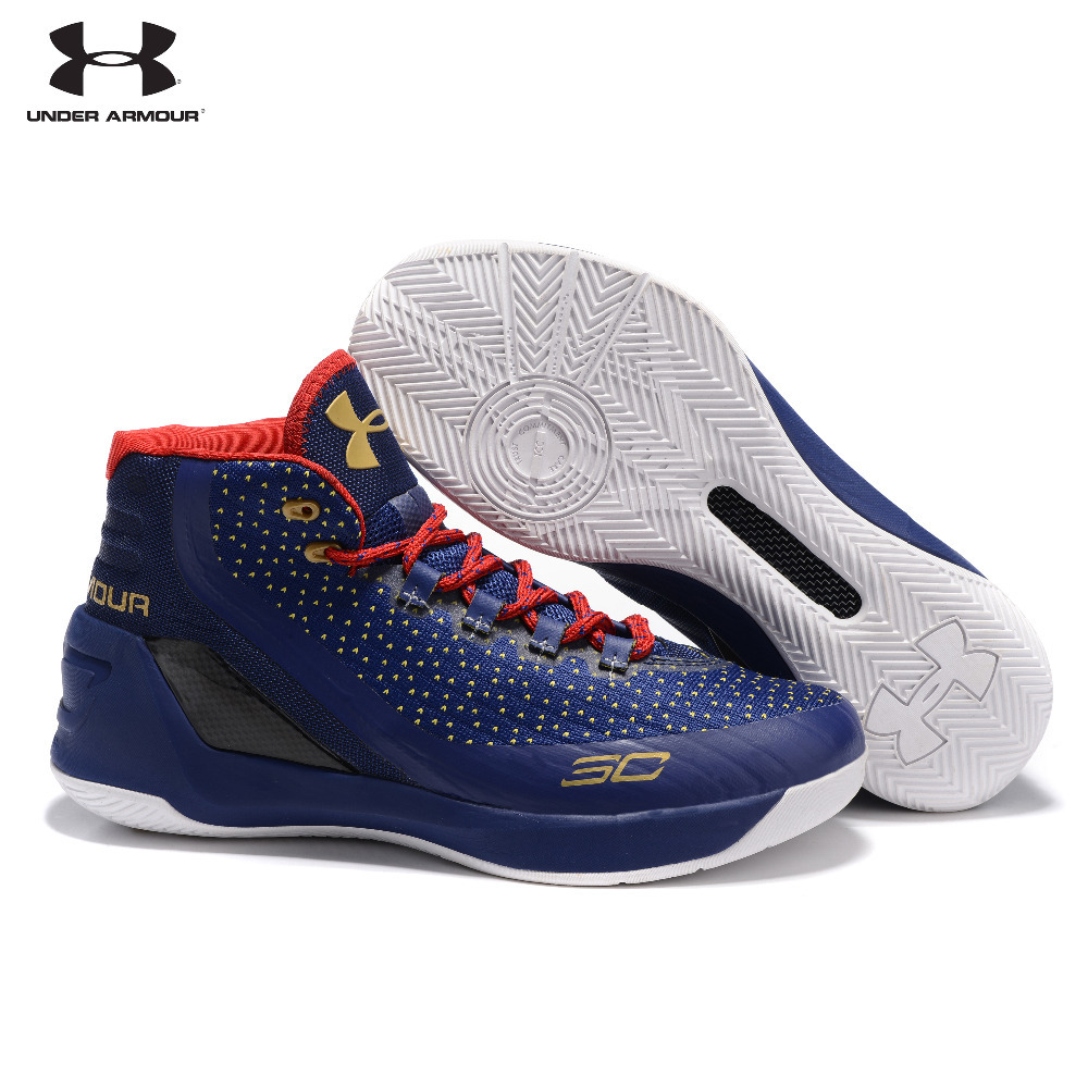791aad6c4eb1 UNDER ARMOUR New Arrival UA Men Curry V3 With Seaglass Insole Basketball  Sneakers Medium Cut Outdoor Athletic Cushioning Shoes