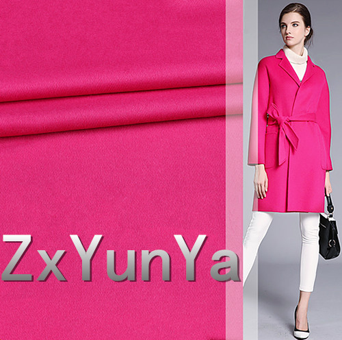 The new 148cm wide cashmere wool fabric high end pieces of red high quality smooth hair twill wool fabric wool coat fabric