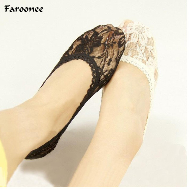 a9dee1bf08fe6 Must-have Summer Lace Slipper Socks One Pair Foot Wear Shallow Mouth For  Pumps Shoes
