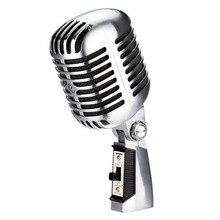 55 sh II clássico nostalgia retro balanço clássico Profissional Dinâmico microfone Com Fio Vocal Microfone Com Interruptor de Boa Qualidade