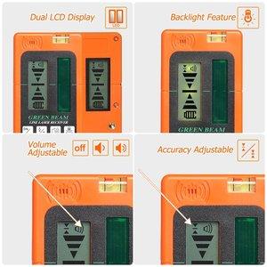 Image 4 - Huepar Laser Level Green Beam Cross Laser Self leveling 360 Degree with 2 Pluse Modes+Huepar Digital LCD Laser Receiver Detector