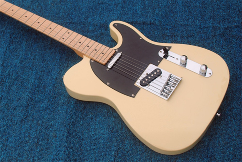 TL electric guitar cream yellow, OEM guitar, guitar in China, free shipping